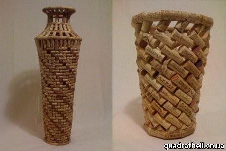 Как сделать вазу из винных пробок